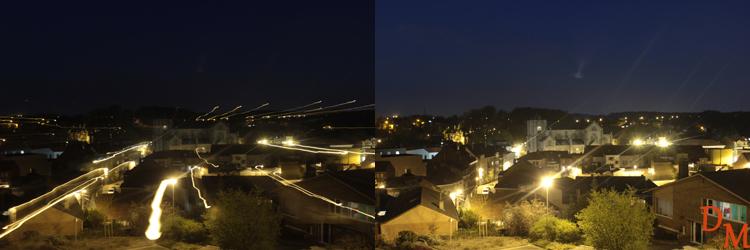 Deux exemples de longues poses de nuit